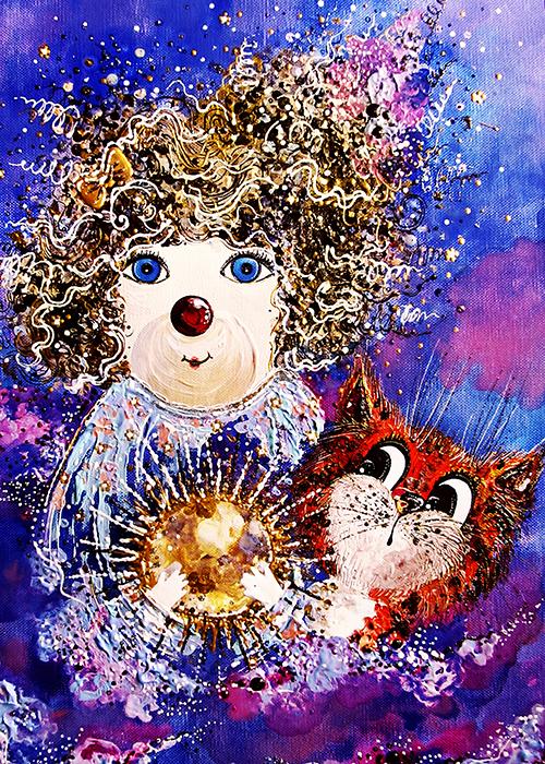 Большая авторская открытка Маленькая Луна и Кот, размер: 15 х 21 см. Автор Ирина БастБОМЛИКРазмер большой открытки: 15 х 21 см. Открытка напечатана на фактурной льняной бумаге. Она теплая и приятная на ощупь