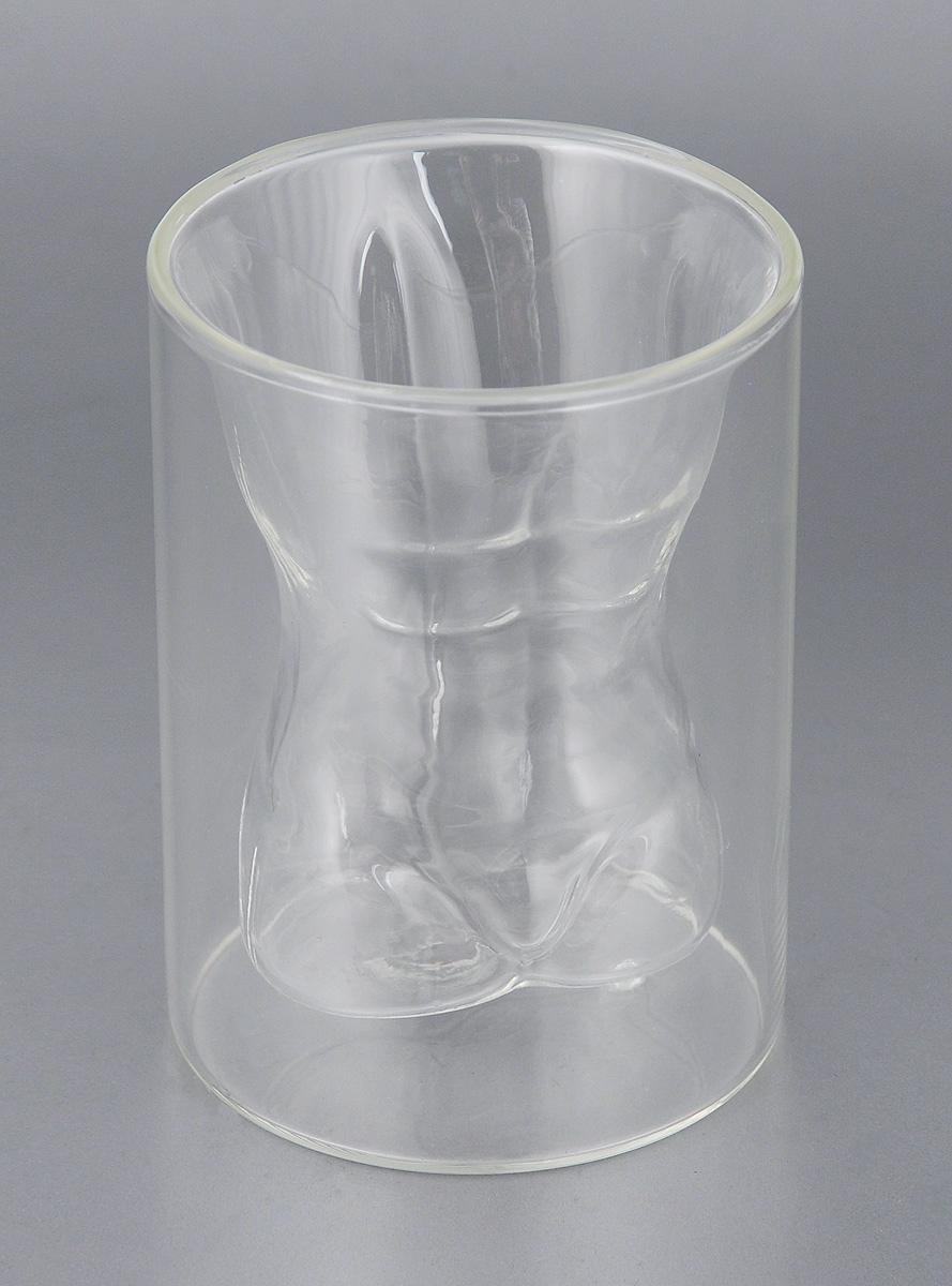 Стакан Bradex Мужской торс, с двойными стенками, 200 мл