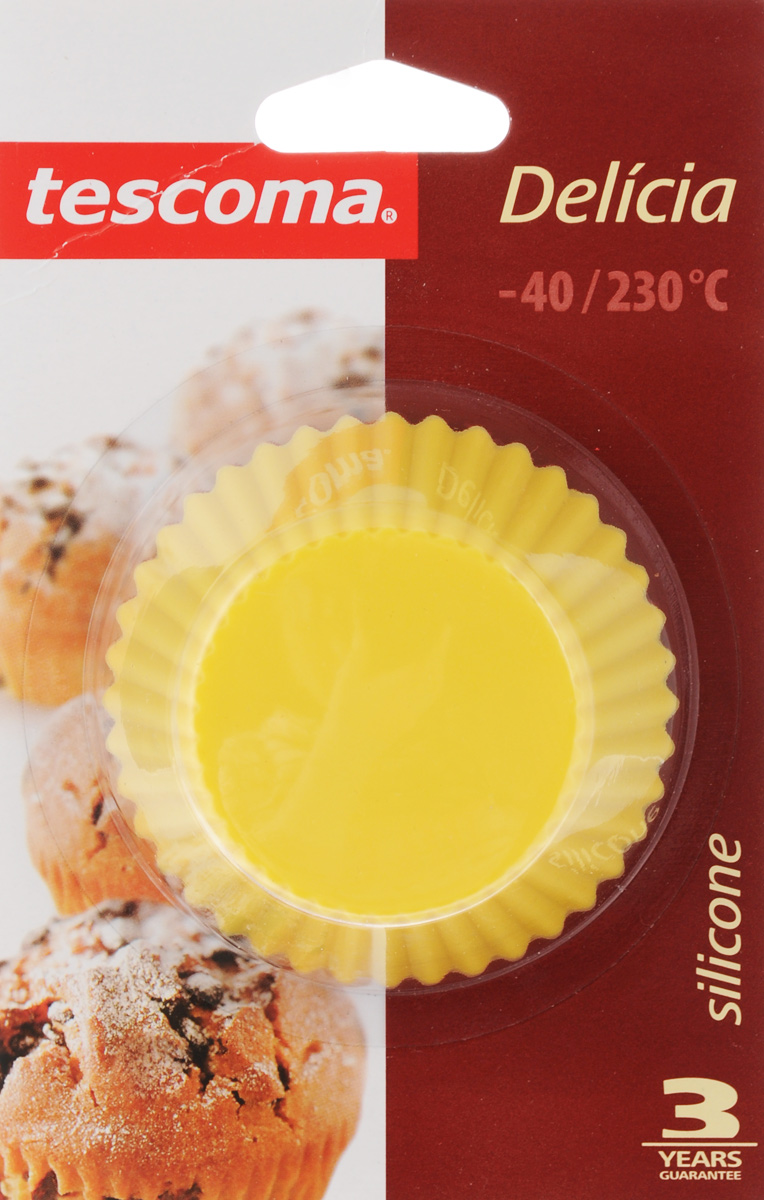 """Формы для выпечки Tescoma """"Delicia"""", изготовленные из высококачественного   силикона,   выдерживающего температуру от -40°C до +230°C. В комплекте 6 форм,   выполненных в виде мини-кексов. Если вы любите побаловать своих домашних вкусным и ароматным угощением   по   вашему оригинальному рецепту, то формы Tescoma """"Delicia"""" как раз то, что вам   нужно!  Подходит для морозильной камеры и мытья в посудомоечной машине.Диаметр формы (по верхнему краю): 7 см.Высота формы: 3,3 см.   Как выбрать форму для выпечки – статья на OZON Гид."""