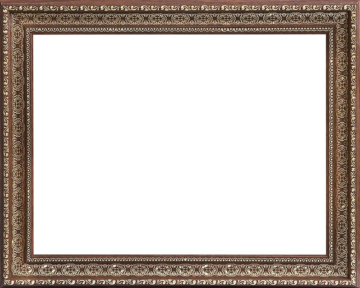 Рама багетная Белоснежка Alice, цвет: темно-коричневый, золотой, 40 х 50 см2213-BBБагетная рама Белоснежка Alice изготовлена из пластика. Багетные рамы предназначены для оформления картин, вышивок и фотографий.Если вы используете раму для оформления живописи на холсте, следует учесть, что толщина подрамника больше толщины рамы и сзади будет выступать, рекомендуется дополнительно зафиксировать картину клеем, лист-заглушку в этом случае не вставляют. В комплект входят рама, два крепления на раму, дополнительный держатель для холста, подложка из оргалита, инструкция по использованию.