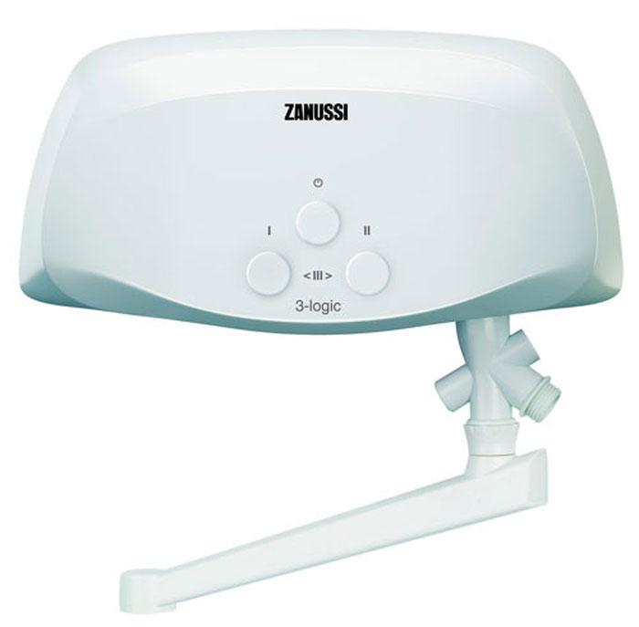 Zanussi 3-logic 3.5 T водонагреватель проточный (кран)3-logic 3,5 T (кран)Zanussi 3-logic 3.5 T – это компактный водонагреватель, который моментально нагревает воду до нужной температуры – достаточно лишь открыть кран. Прибор можно устанавливать даже в скромных по площади помещениях, но, несмотря на свои габариты, он имеет 3 режима мощности, снабжен датчиками защиты и отличается высокой производительностью. Установка прибора требует минимум времени и сил.Система управления: гидравлическаяМедный нагревательный элемент3 режима мощности нагреваИндикация режимов работыДля обслуживания одной водоразборной точкиПроизводительность: 2,0-3,7 л/минМаксимальный расход (t = 25°): 2 л/минКласс пылевлагозащищенности: IPX4В комплекте кран