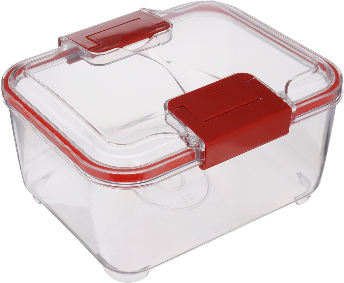 Контейнер Status, цвет: прозрачный, красный, 3 лRC30 RedПищевой контейнер Status изготовлен из высококачественного пищевого пластика. Контейнер безопасен для здоровья, не содержит BPA. Изделие имеет прямоугольную форму и оснащено плотно закрывающейся крышкой. Прозрачные стенки позволяют видеть содержимое. Контейнер закрывается при помощи двух защелок.Можно мыть в посудомоечной машине.Контейнер подходит для использования вморозильной камере и СВЧ.
