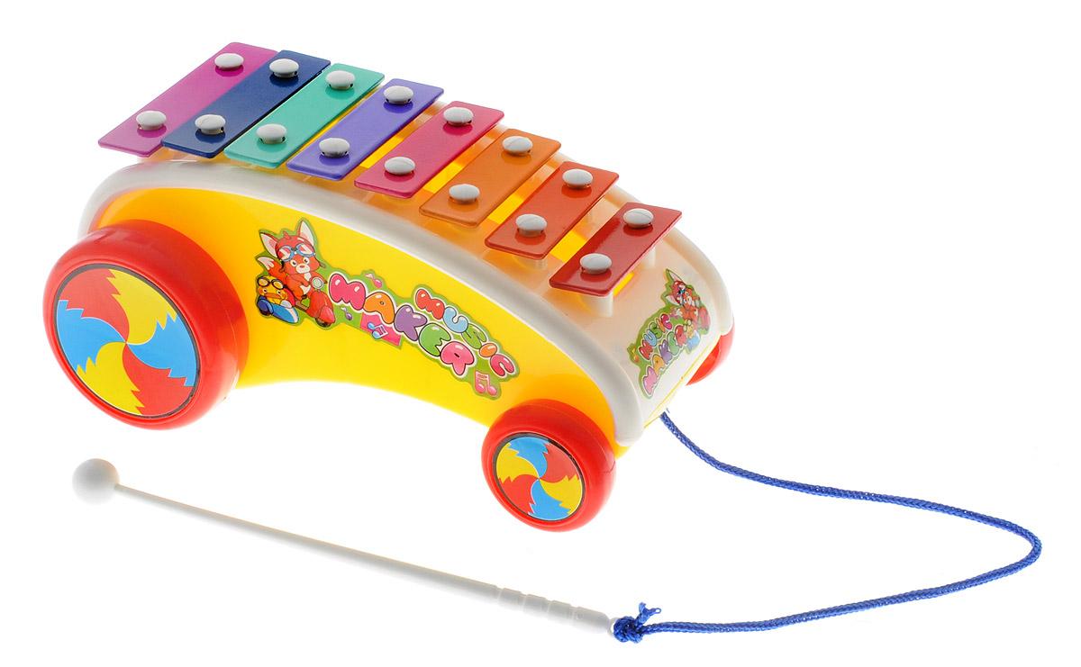 Shantou Ксилофон Машинка цвет желтый машинка сортер музыкальная