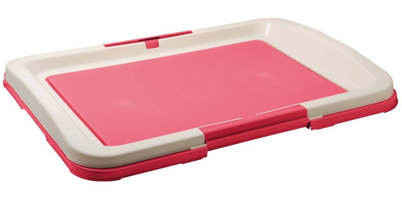 Туалет для собак V.I.Pet  Японский стиль , цвет: розовый, молочный, 63 х 49 х 6 см - Наполнители и туалетные принадлежности - Лотки и совки