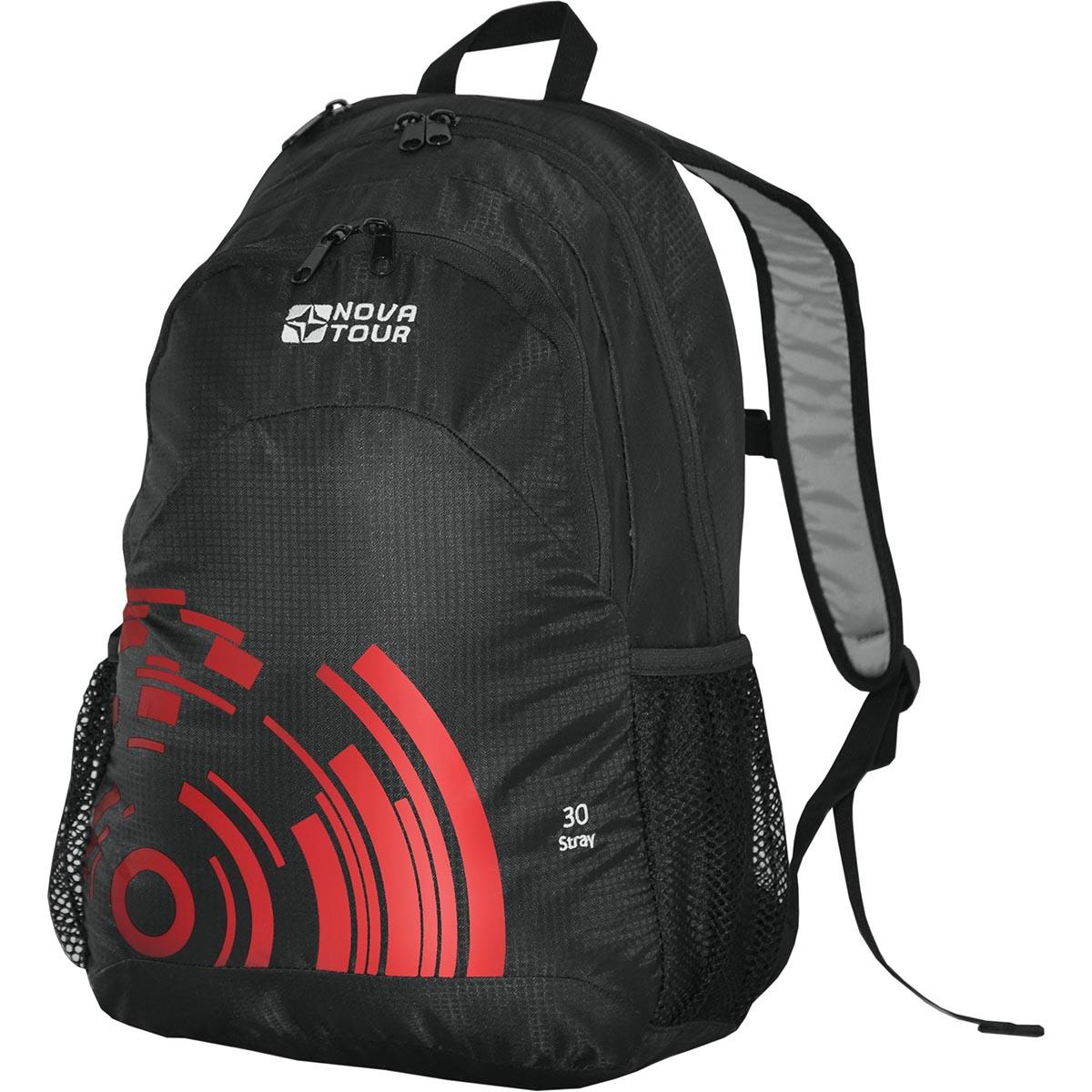 Рюкзак городской Nova Tour Стрэй 30, цвет: черный, красный, 24 л инвентарь для турпоходов blog tour pe007