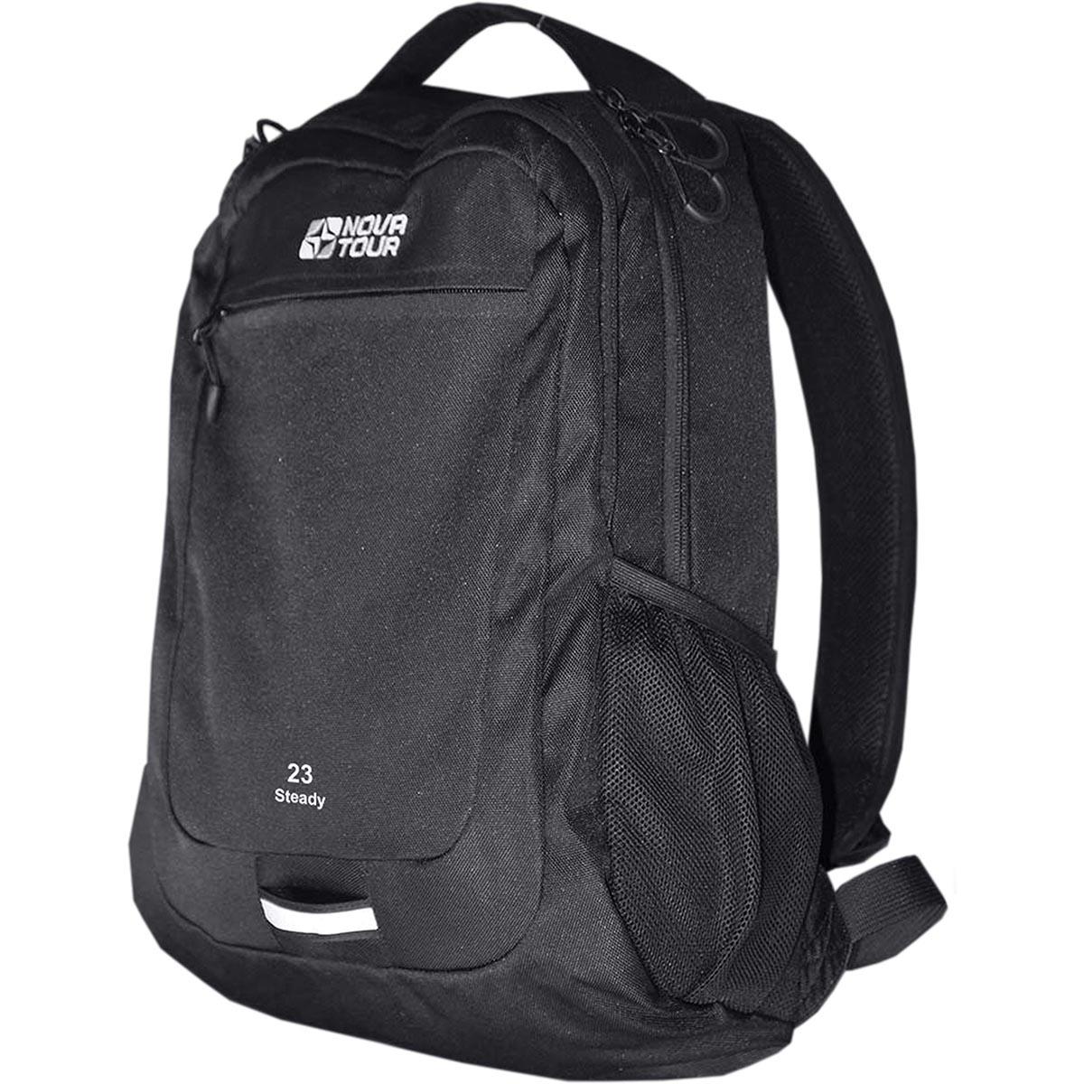 Рюкзак городской Nova Tour Стади 23, цвет: черный, 20 л рюкзак городской nova tour вижн цвет черный серый 20 л