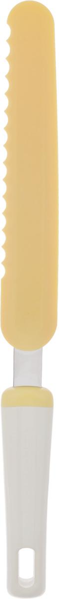 Нож-лопатка для Tescoma Delicia, для растирания, длина 32 см66829_5Нож-лопатка для Tescoma Delicia выполнен из термостойкого нейлона, который отлично выдерживает температуру до 210°C. Изделие отлично подходит для растирания глазури, резки тортов и десертов. Ручка выполнена из прочного пластика и нержавеющей стали. Можно мыть в посудомоечной машине.