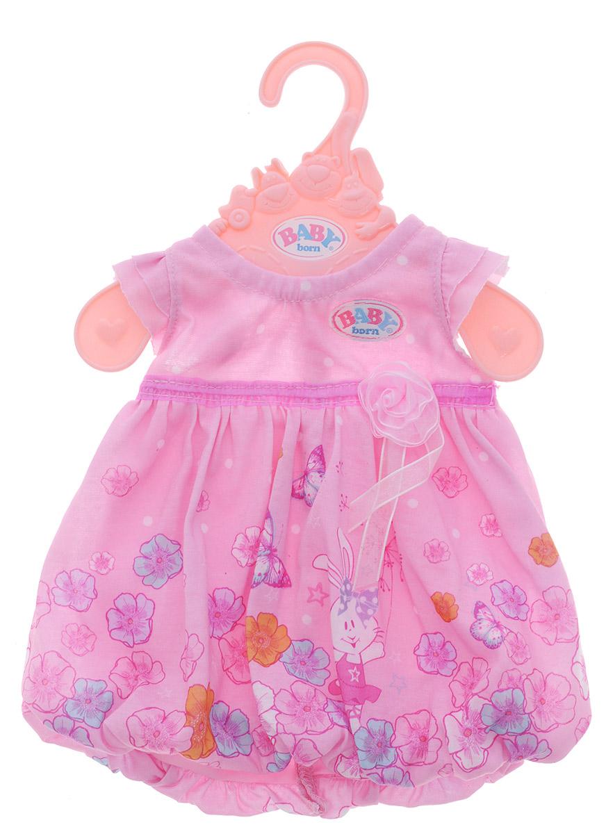 Baby Born Одежда для кукол Платье цвет розовый lovely striped baby girl одежда мальчик одежда брюки костюм малыш детские наряды одежда для ребенка