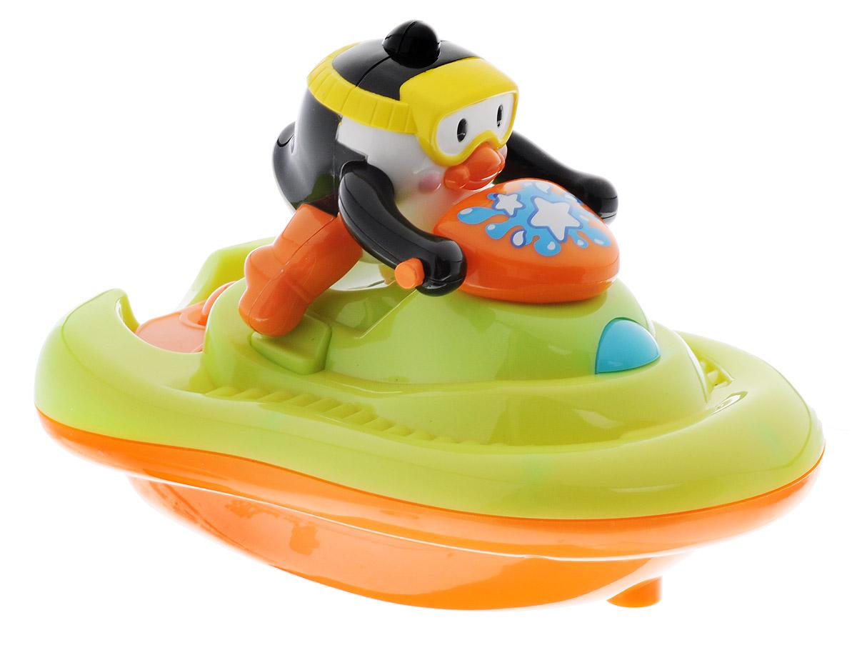 Happy Kid Игрушка для ванной Пингвиненок на катере