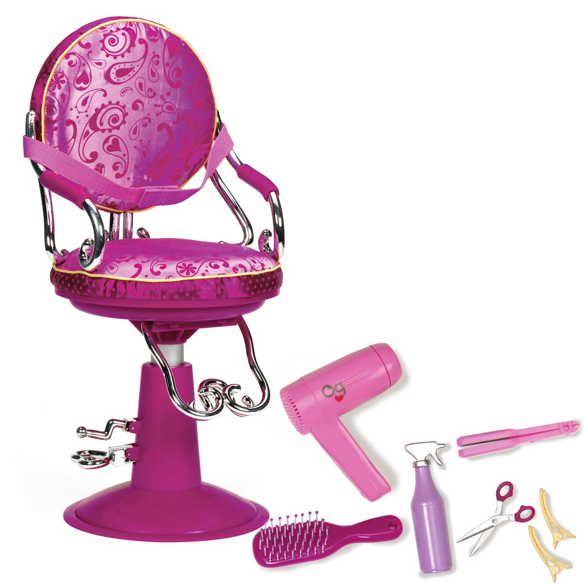 Our Generation Кресло парикмахерское с аксессуарами для куклы кресло для ученика