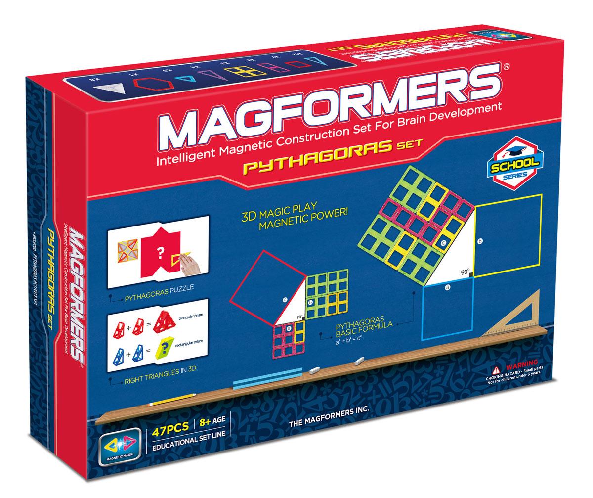 Фото - Magformers Магнитный конструктор Пифагор конструктор автомобильный парк 7 в 1