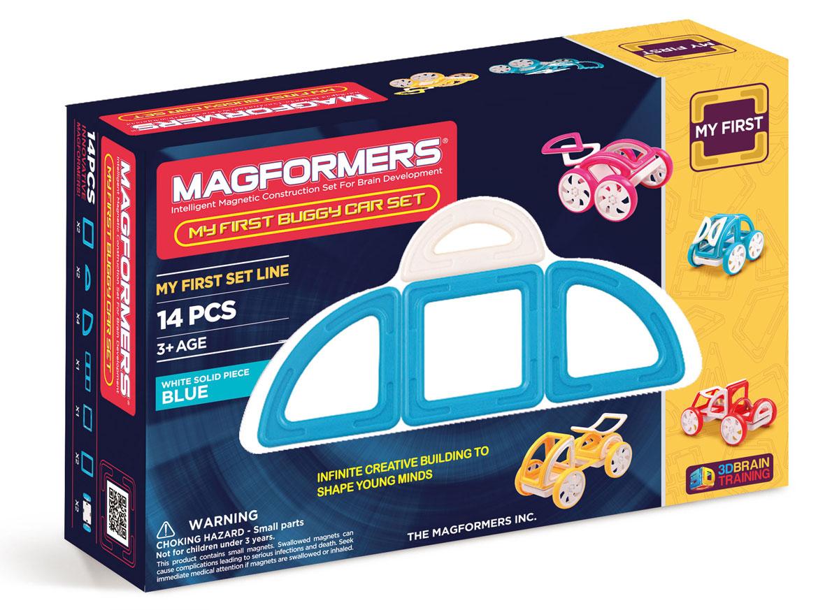 Magformers Магнитный конструктор My First Buggy Car Set цвет голубой magformers my first magformers 30