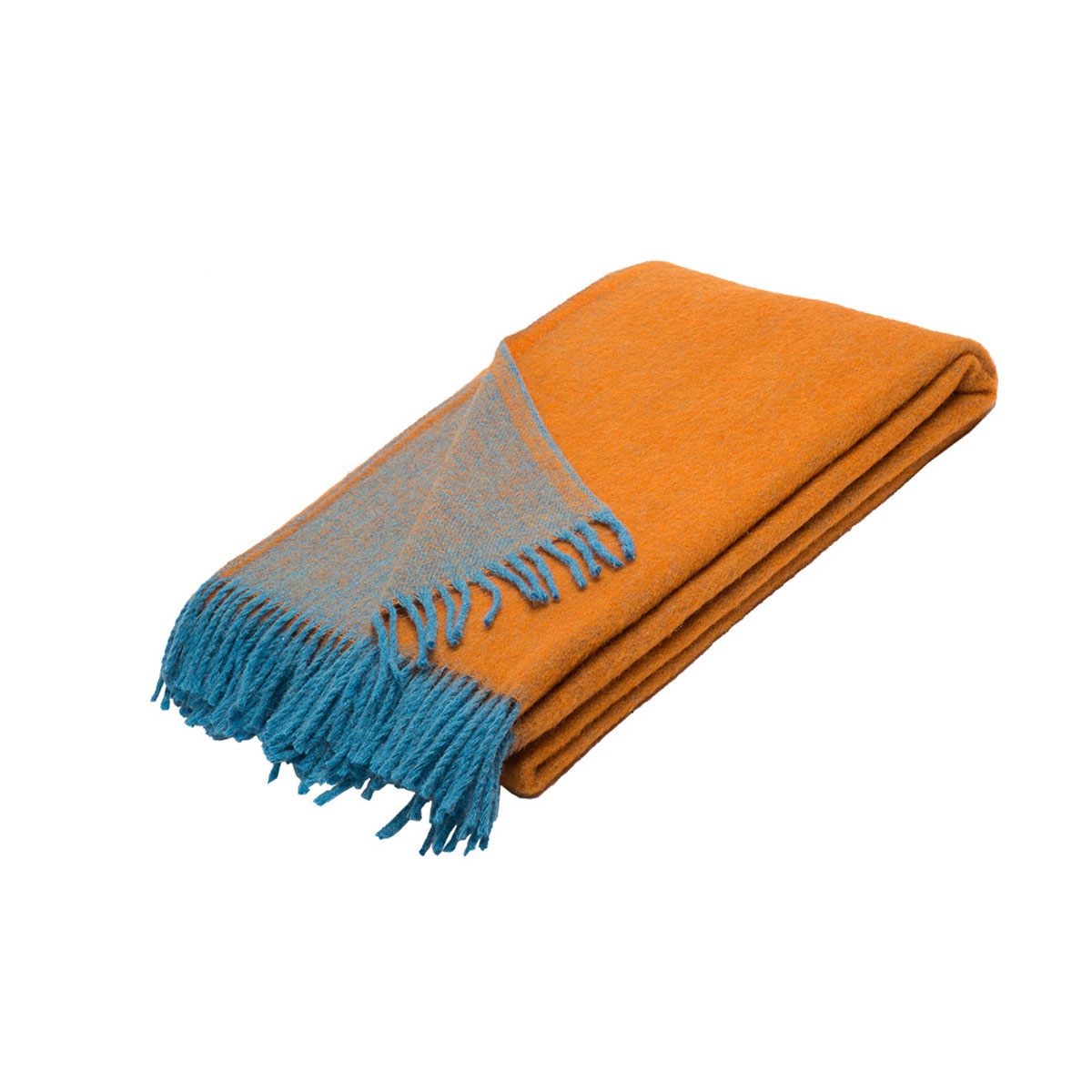 Плед Руно Дуэт, цвет: оранжевый, синий, 140 х 200 см. 1-531-140 (68) коврик домашний sunstep цвет синий 140 х 200 х 4 см