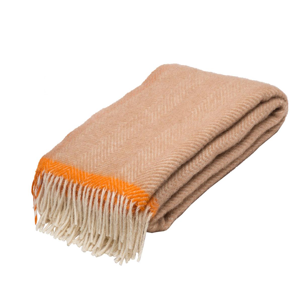 Плед Руно Mone, цвет: песочный, оранжевый, 140 х 200 см. 1-541-140 (03)86133Плед Руно Mone гармонично впишется в интерьер вашего дома и создаст атмосферу уюта и комфорта. Чрезвычайно мягкий и теплый плед с кистями изготовлен из натуральной овечьей шерсти. Высочайшее качество материала гарантирует безопасность не только взрослых, но и самых маленьких членов семьи. Плед - это такой подарок, который будет всегда актуален, особенно для ваших родных и близких, ведь вы дарите им частичку своего тепла!