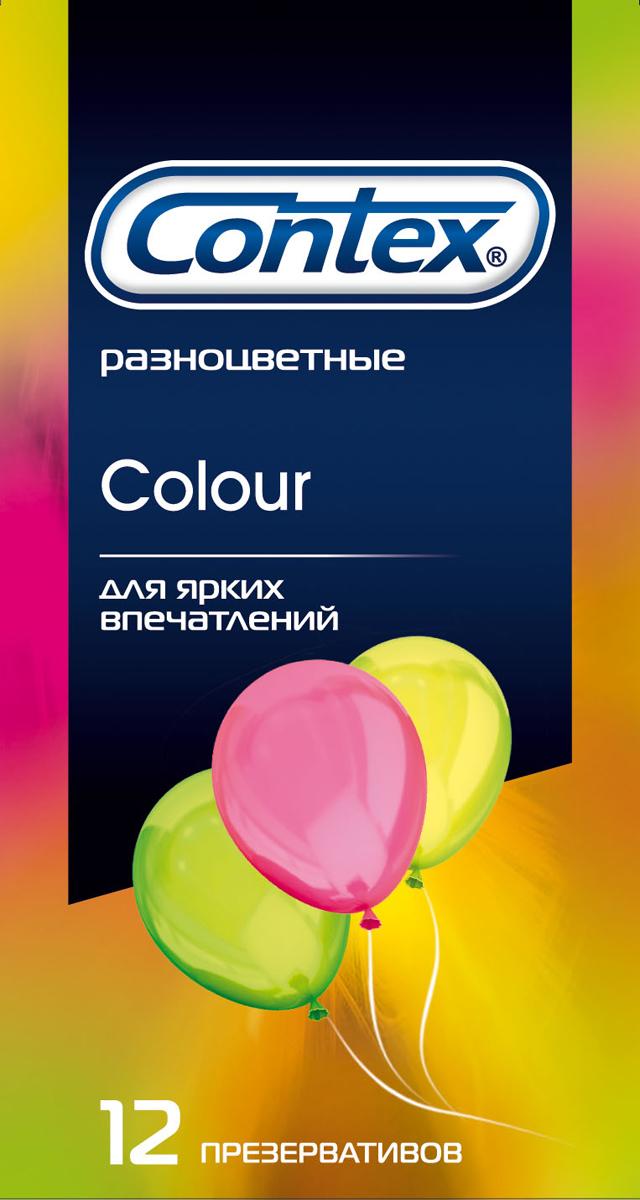 Contex презервативы Colour, яркие впечатления, 12 шт ns novelties jackers pleaser stroker голубой мастурбатор с реалистичным рельефом