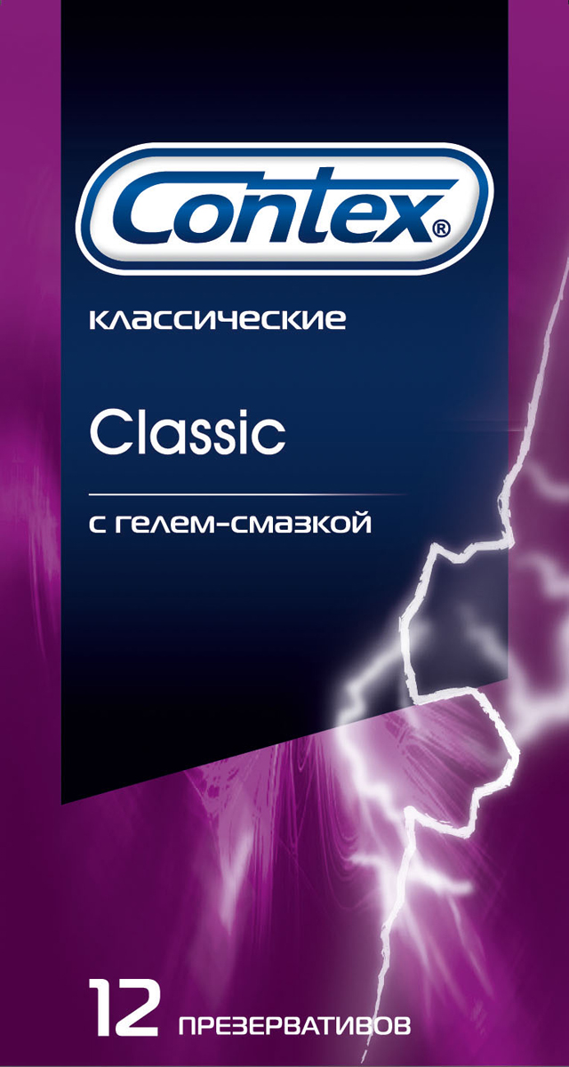Contex Classic Презервативы классические с гелем-смазкой естественные ощущения, 12 шт насадка удлинитель с пупырышками и усиками