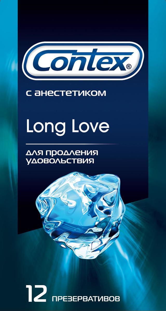 """Contex презервативы """"Long Love"""", продлевающие половой акт, 12 шт"""