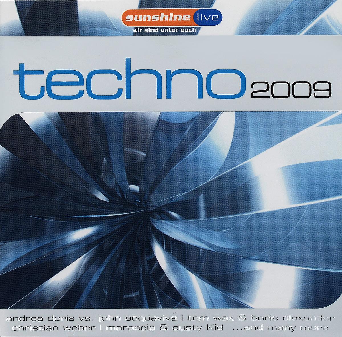 Techno 2009 (2 CD) lori акварель disney феи 18 цветов в пластике