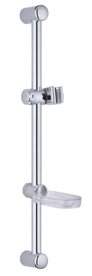 Стойка для душа с мыльницей Gro Welle Dusches. DUS303АТ02618Стойка для душа из нержавеющей стали (крепеж/держатель/мыльница ABS). Высота стойки: 63 см. Диаметр стойки: 20 мм.