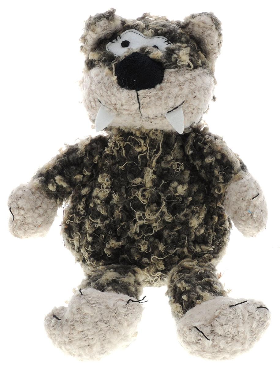 Magic Bear Toys Мягкая игрушка Кот Флойд цвет темно-серый бежевый 25 см magic bear toys мягкая игрушка медведь с заплатками в шарфе цвет коричневый 120 см