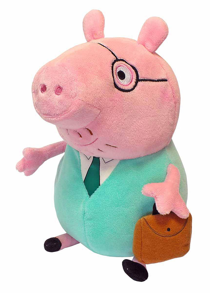 Фото Peppa Pig Мягкая игрушка Папа Свин с кейсом 30 см. Купить в РФ