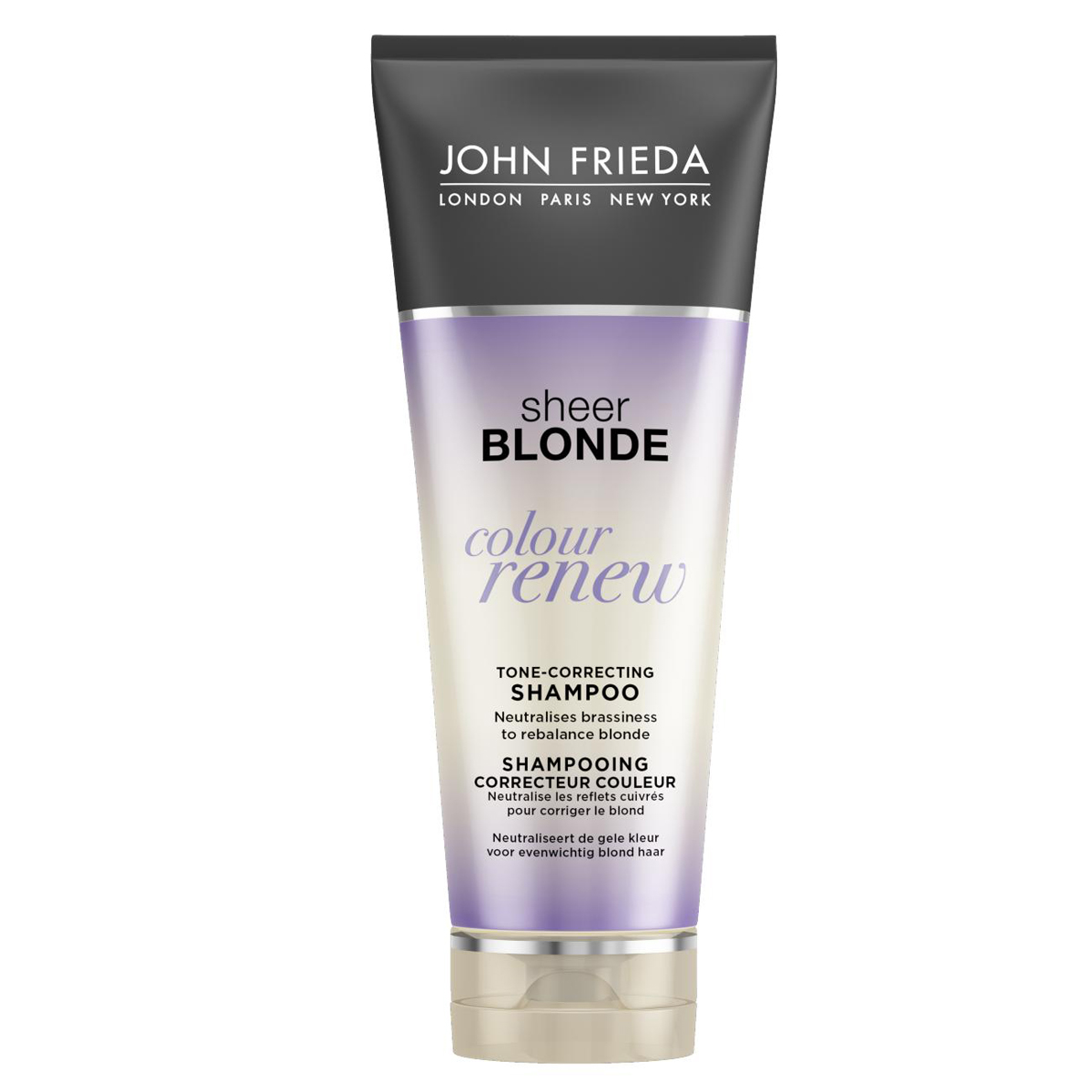 John Frieda Шампунь Sheer Blonde для восстановления оттенка осветленных волос, 250 млjf214110Нейтрализует эффект желтизны и обновляет оттенок, освежает яркость и тон осветления. Блокирует нежелательный желтый оттенок. Шампунь для восстановления и поддержания оттенка осветленных волос нейтрализует желтоватый, медный оттенки и очищает волосы. Применение: Обильно нанесите шампунь на влажные волосы, вспеньте, тщательно смойте и далее используйте шампунь для восстановления и поддержания оттенка осветленных волос Colour Renew. Используйте шампунь до 3 раз в неделю для наилучшего результата.