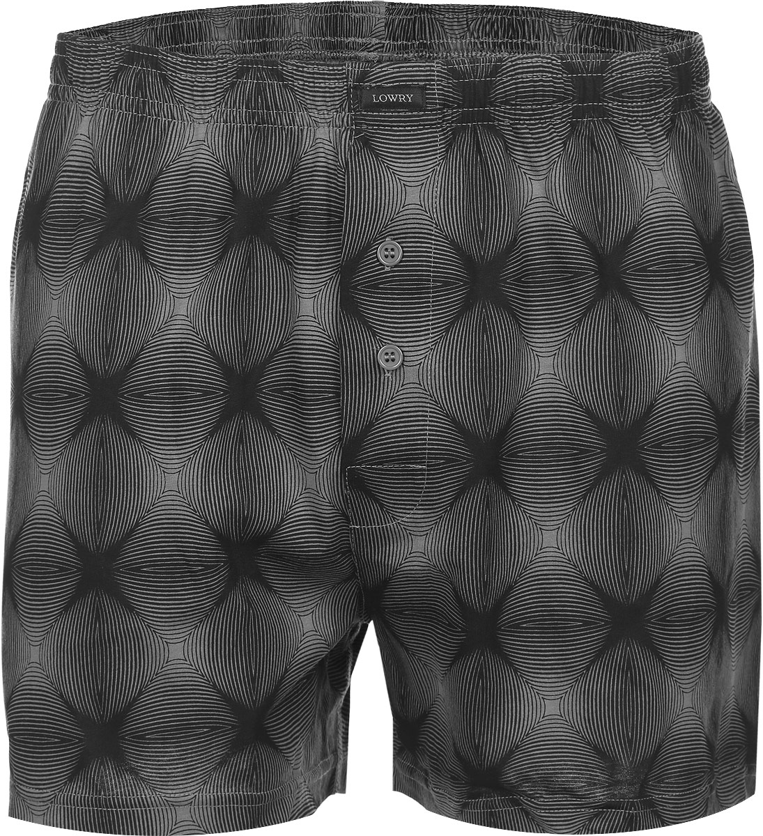 Трусы семейные мужские Lowry, цвет: черный, серый. MSH-373. Размер XXXL (56/58) трусы lowry трусы 3 шт