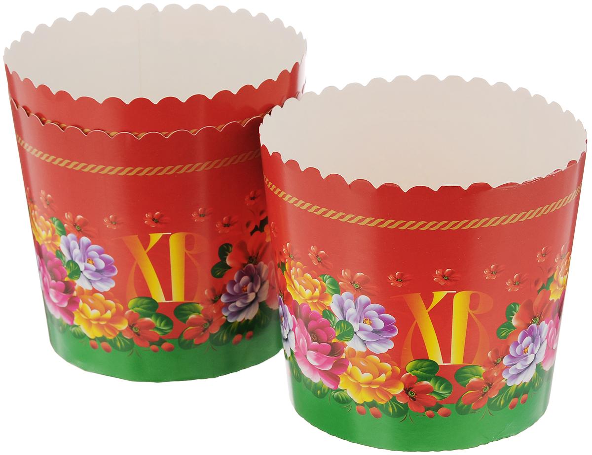 Набор форм для выпечки кексов Home Queen Пасхальные куличи, 3 шт. 69938 бумажные формы для куличей тверь