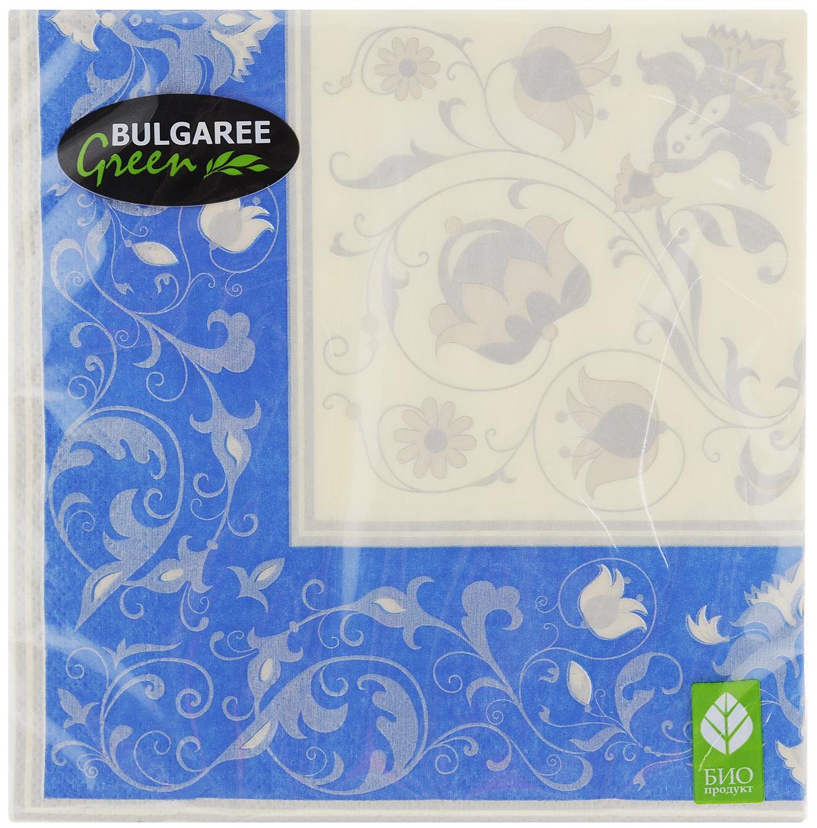 Салфетки бумажные Bulgaree Green Белла, трехслойные, 33 х 33 см, 20 шт1002382Трехслойные салфетки Bulgaree Green Белла выполнены из 100%целлюлозы и оформлены красивым рисунком. Изделия станут отличным дополнением любого праздничного стола. Они отличаются необычной мягкостью, прочностью и оригинальностью.Размер салфеток в развернутом виде: 33 х 33 см.