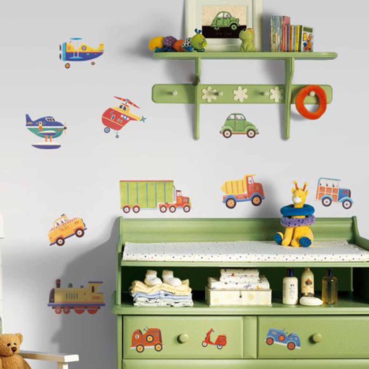 RoomMates Наклейка интерьерная Транспорт 26 шт -  Детская комната