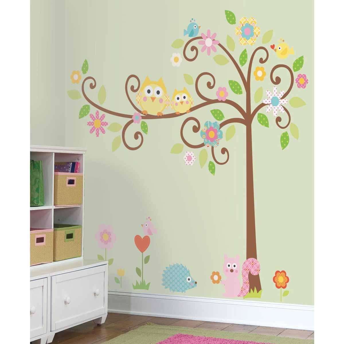 RoomMates Наклейка интерьерная Дерево с завитками 80 шт -  Детская комната