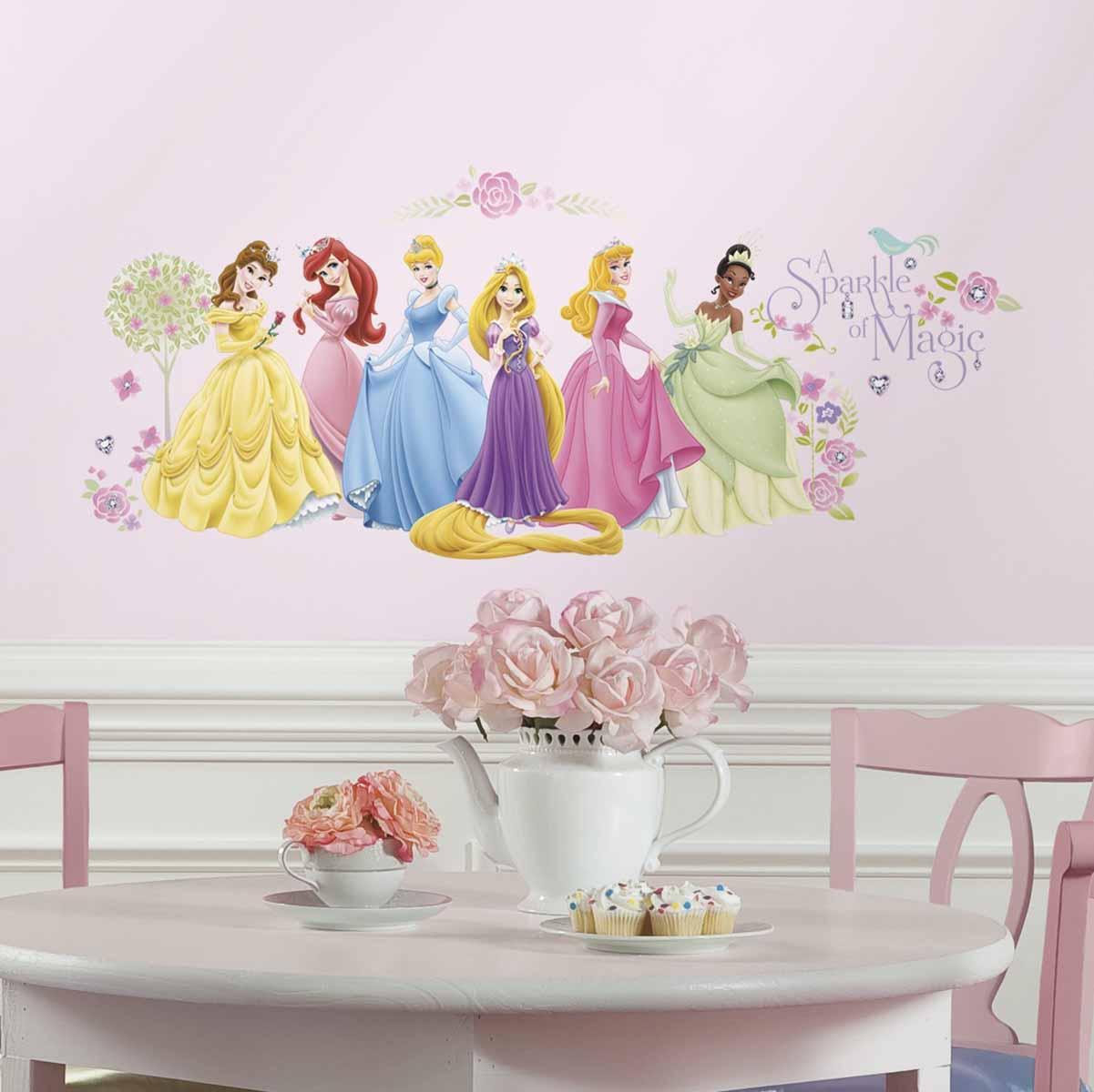 RoomMates Наклейки для декора Дисней Принцессы -  Детская комната