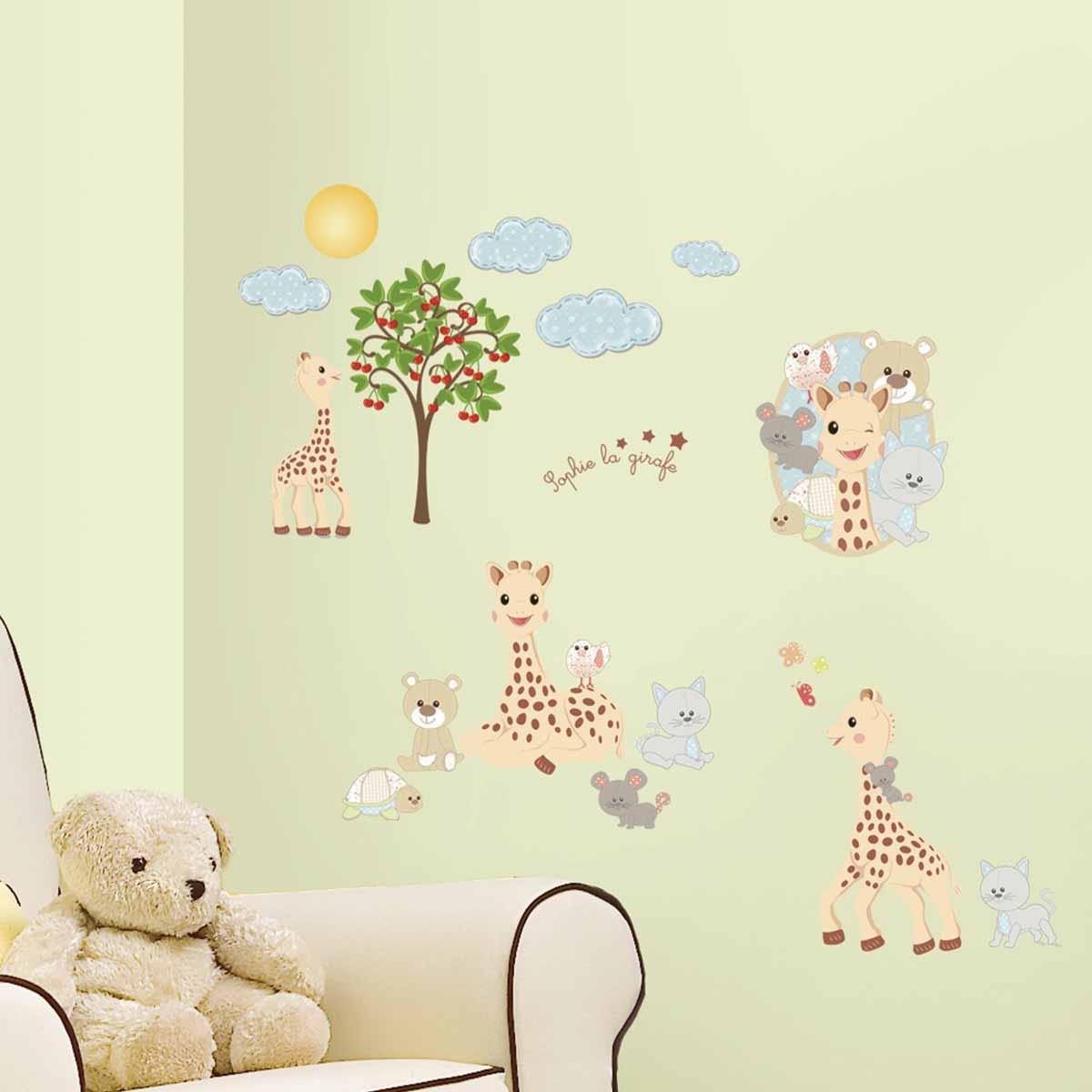 RoomMates Наклейки для декора Жираф Софи -  Детская комната
