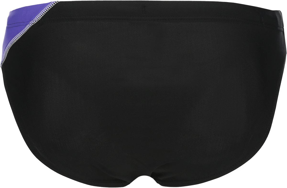 Плавки мужские Lowry, цвет: черный, фиолетовый. MSB-1. Размер M (46)