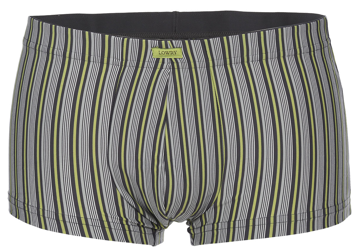 Трусы-боксеры мужские Lowry, цвет: серый, зеленый. MSHL-402. Размер M (46) трусы lowry трусы