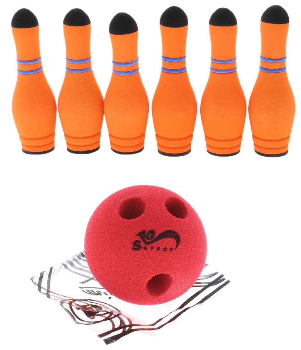 Safsof Игровой набор Мини-боулинг цвет оранжевый красный