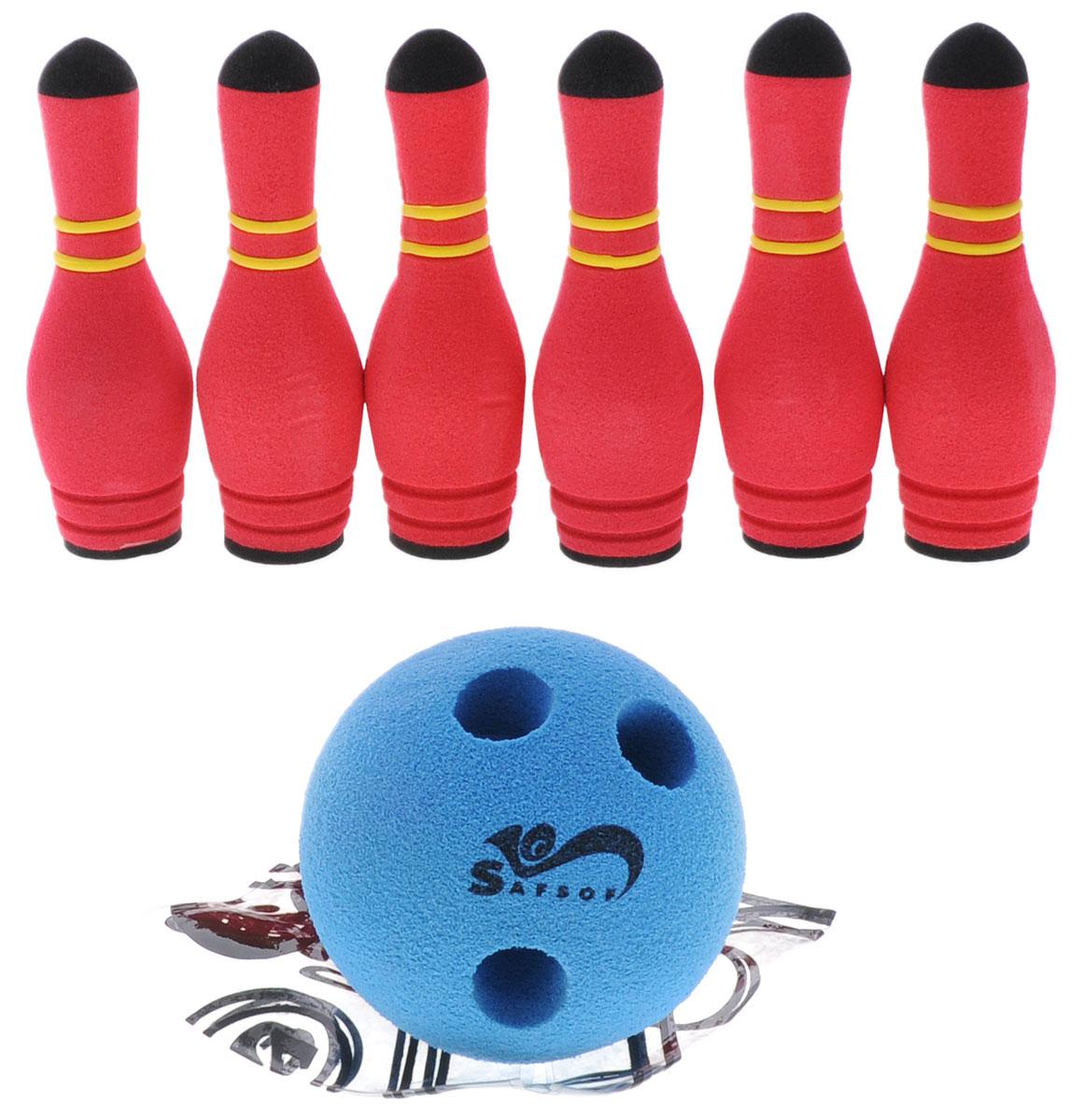 Safsof Игровой набор Мини-боулинг цвет малиновый синий