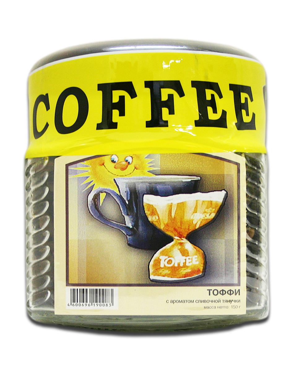 Фото Блюз Ароматизированный Тоффи кофе в зернах, 150 г (банка)