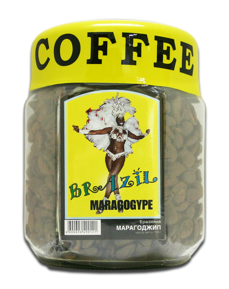 Блюз Марагоджип Бразилия кофе в зернах, 150 г (банка)4600696490121Блюз Марагоджип Бразилия - самая крупная разновидность арабики. Настой насыщенный, терпкий, а кислинка винно - фруктовая. Консистенция напитка - мягкая, обволакивающая, сливочная. Букет отлично сбалансирован. Игривые, сладкие нотки муската, гвоздики, грецкого ореха, цедры лайма подарят незабываемые ощущения.Кофе: мифы и факты. Статья OZON Гид