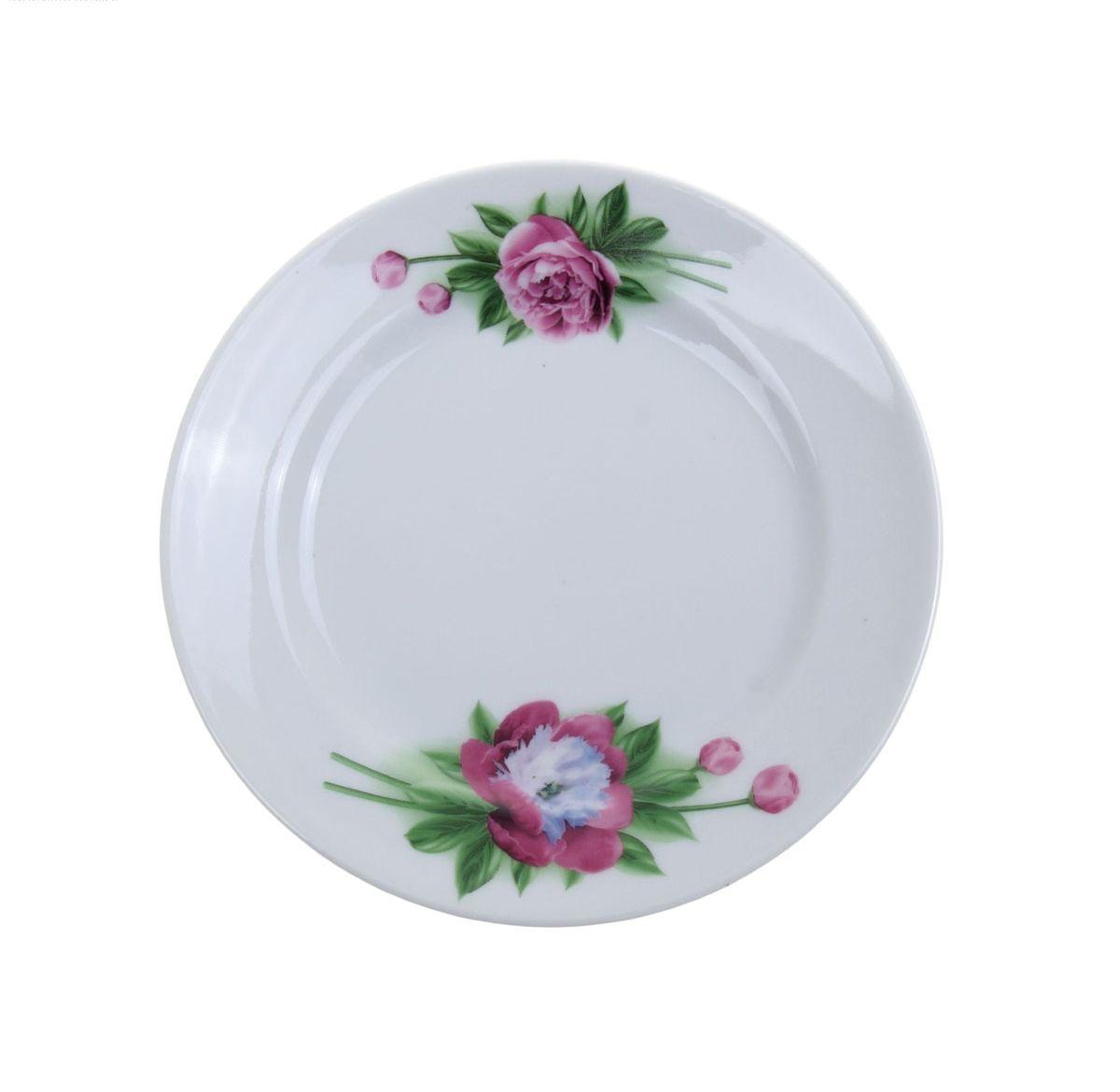 Тарелка мелкая Идиллия. Пион, диаметр 17 см1063089Мелкая тарелка Идиллия. Пион выполнена из высококачественного фарфора и украшена ярким рисунком. Она прекрасно впишется в интерьер вашей кухни и станет достойным дополнением к кухонному инвентарю. Тарелка Идиллия. Пион подчеркнет прекрасный вкус хозяйки и станет отличным подарком. Диаметр тарелки: 17 см.