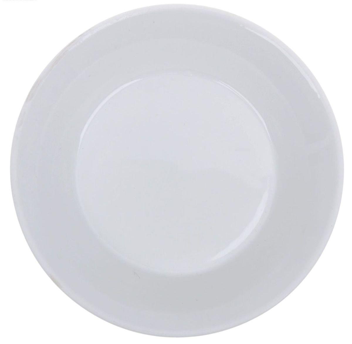 """Блюдце Добрушский фарфоровый завод """"Белье"""", выполненное из высококачественного фарфора, имеет классическую  круглую форму.  Диаметр блюдца (по верхнему краю): 14 см."""
