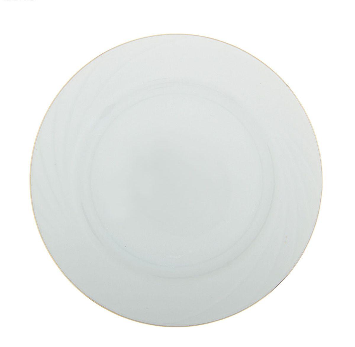 Тарелка мелкая Добрушский фарфоровый завод Голубка, диаметр 17,5 см507896Тарелка Голубка выполнена из высококачественного фарфора. Она прекрасно впишется в интерьер вашей кухни и станет достойным дополнением к кухонному инвентарю. Тарелка Голубка подчеркнет прекрасный вкус хозяйки и станет отличным подарком.
