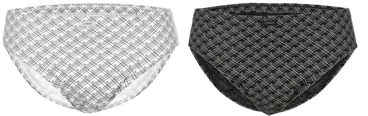 Трусы мужские Lowry, цвет: черный, молочный, 2 шт. MB-375. Размер XXXL (56/58) трусы lowry трусы