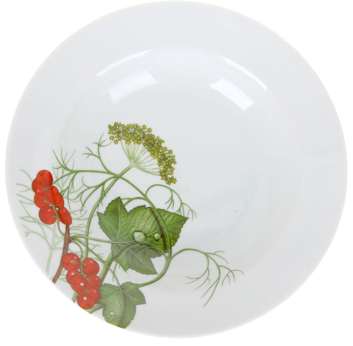 Тарелка глубокая Идиллия. Садочек, диаметр 20 см1224524Глубокая тарелка Идиллия. Садочек выполнена из высококачественного фарфора и украшена ярким рисунком. Она прекрасно впишется в интерьер вашей кухни и станет достойным дополнением к кухонному инвентарю. Тарелка Идиллия. Садочек подчеркнет прекрасный вкус хозяйки и станет отличным подарком. Диаметр тарелки: 20 см.