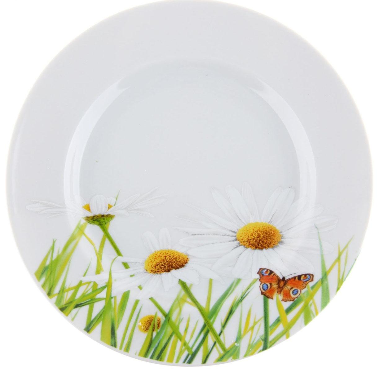 Тарелка мелкая Идиллия. Ромашка, диаметр 20 см. 5С01891280310