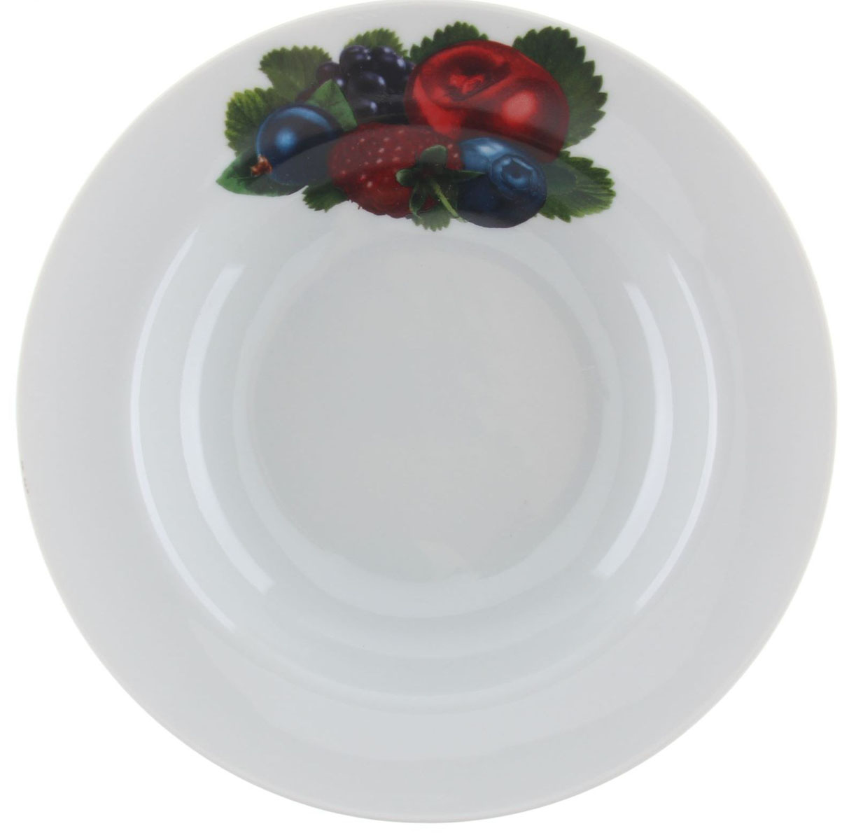 Тарелка глубокая Идиллия. Ассорти, диаметр 20 см1303840Глубокая тарелка Идиллия. Ассорти выполнена из высококачественного фарфора и украшена ярким рисунком ягод. Она прекрасно впишется в интерьер вашей кухни и станет достойным дополнением к кухонному инвентарю. Тарелка Идиллия. Ассорти подчеркнет прекрасный вкус хозяйки и станет отличным подарком. Диаметр тарелки: 20 см.