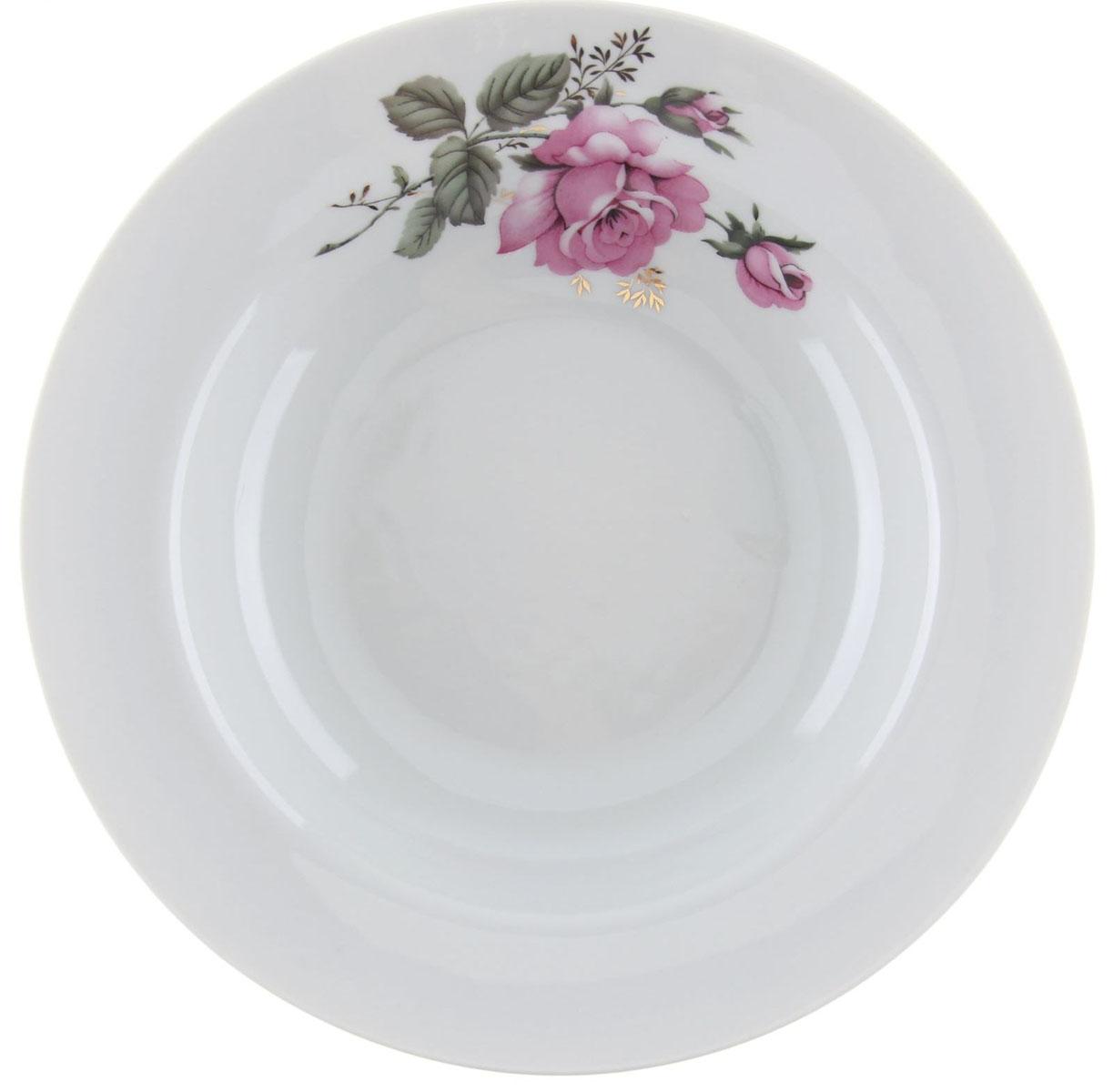 Тарелка глубокая Идиллия. Глория, диаметр 20 см1303872Глубокая тарелка Идиллия. Глория выполнена из высококачественного фарфора и украшена ярким рисунком. Она прекрасно впишется в интерьер вашей кухни и станет достойным дополнением к кухонному инвентарю. Тарелка Идиллия. Глория подчеркнет прекрасный вкус хозяйки и станет отличным подарком.