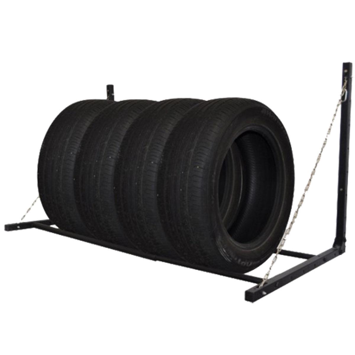 Полка для хранения колес МастерПрофАС.050004Система настенного хранения колёс. Идеально подходит для организации пространства.Максимальная нагрузка 200 кг. Выдерживает 4 колеса с дисками.Изготовлена из прочных стальных труб. Размер в собранном виде: 140 х 73 х 70 см.Размер упаковки: 82 х 10,5 х 8 см. Вес: 7,85 кг.