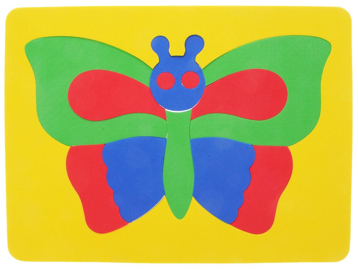 Фантазер Пазл для малышей Бабочка цвет основы желтый бомик пазл для малышей цифры цвет основы красный