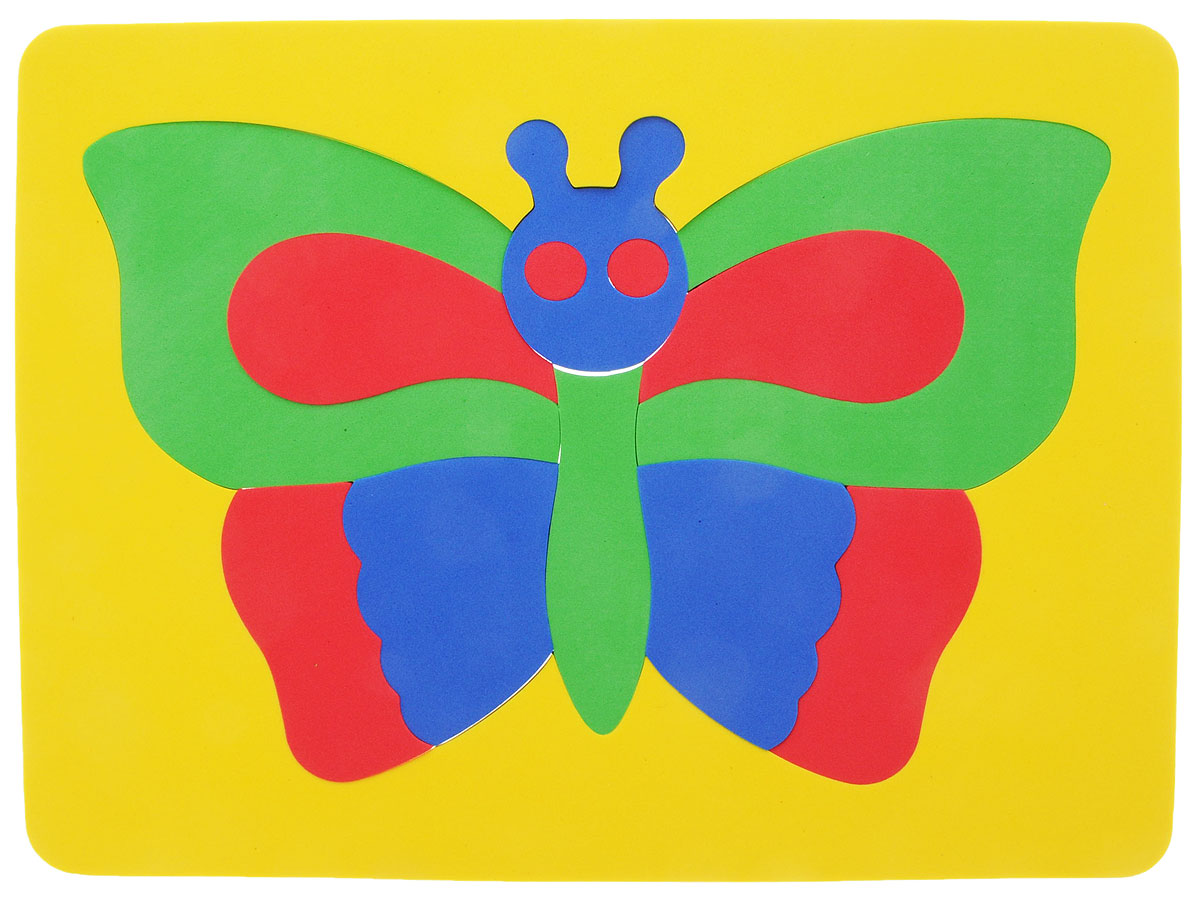 Фантазер Пазл для малышей Бабочка цвет основы желтый